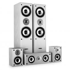 Surround Lautsprecher Boxen Set Heimkino 1150W Weiß