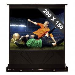 Boden-Leinwand 200x150cm ausziehbar Heimkino HDTV 254cm 4:3