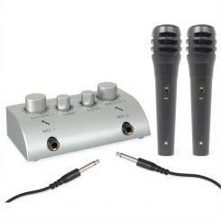 SKY-103 Mini 2-Kanal Karaoke Mischpult 2 Mikrofone Set