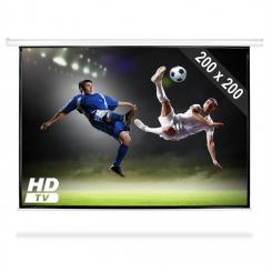 Beamer Leinwand 200x200cm Heimkino Projektor HDTV 1:1