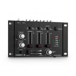 TMX-2211 3/2-Kanal DJ Mixer Mischpult Talkover Party Schwarz