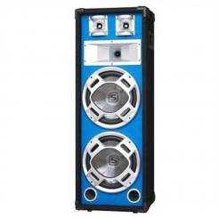 "SKY-178 PA-Lautsprecher PA-Box 2x 20cm (8"")-Subwoofer blau LED-Lichteffekt 600W"