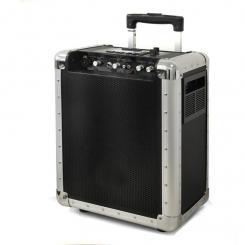 PA-200 Mobile DJ-PA-Anlage Trolley USB-SD-MP3 Akku