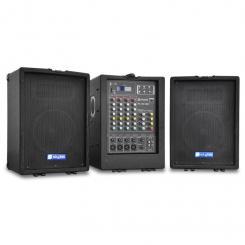 PA-100USB Mobile PA-Anlage 2x 300W USB-MP3 4-Kanal-Mixer