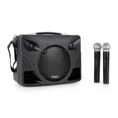Port85VHF-BT mobile PA-Box Bluetooth USB SD MP3 VHF 2x Funk-Mikrofon