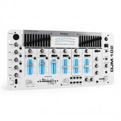 DJM-102 4-Kanal-Mixer LED Echo Effekte Battle weiß