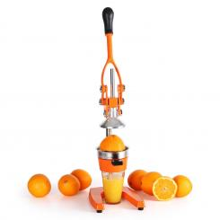 EcoJuicer XXL Saftpresse orange Hebelmechanik handbetrieben Orange