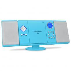 V-12 Stereoanlage USB SD CD MP3 AUX UKW Fernbedienung blau Blau