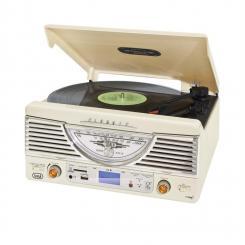 TT-1062E Vintage-Stereoanlage Weiß USB SD MP3 Weiß