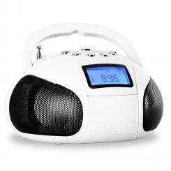 Bamboombox Mini-Radio SD USB Bluetooth Radio weiß