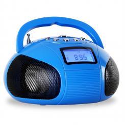 Bamboombox Mini-Radio SD USB Bluetooth Radio blau