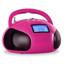 Bamboombox Mini-Radio SD USB Bluetooth Radio pink
