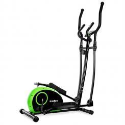 ELLIFIT BASIC 10 Heimtrainer Crosstrainer 4 kg Pulsmesser grün / schwarz