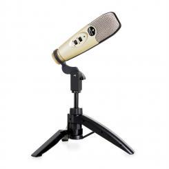 Precision Kondensator-Mikrofon USB Niere Stativ champagner Plug & Play
