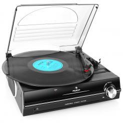 928 Plattenspieler integrierte Lautsprecher 33 45 RPM Schwarz