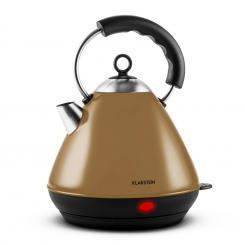Charlotte Cappuccino Wasserkocher Teekessel 2L 2200W kabellos braun Braun