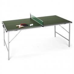 King Pong Tischtennisplatte klappbar grün Grün