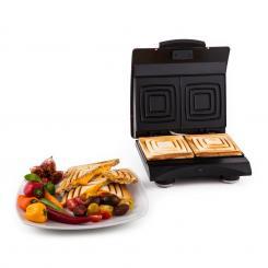 Sandwich Buddy Sandwichmaker 700 W 2 Heizflächen Edelstahl rot