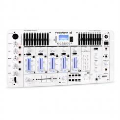 Kemistry 3 WH 4-Kanal-DJ-Mischpult Bluetooth USB SD Phono weiß Weiß