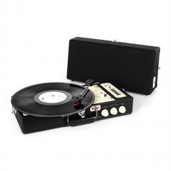 RT98 Vintage-Plattenspieler schwarz USB SD AUX