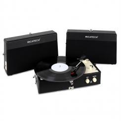 RT80 Vintage-Plattenspieler schwarz AUX