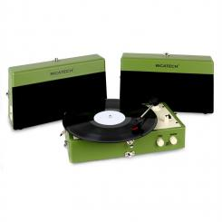 RT80 Vintage-Plattenspieler grün AUX
