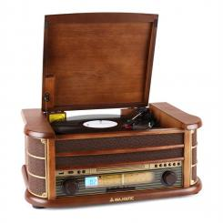 Audiola TT34 Retro-Stereoanlage Vinyl TP CD USB MP3