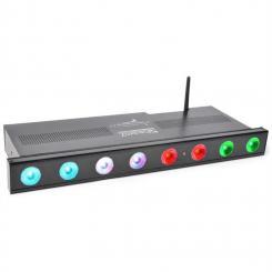 Professional Wi-Bar LED-Bar 8 x 3W Tri-Color DMX kabellos