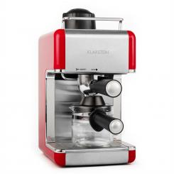 Sagrada Rossa Espressomaschine Edelstahl 800W 3,5 Bar 4 Tassen Rot