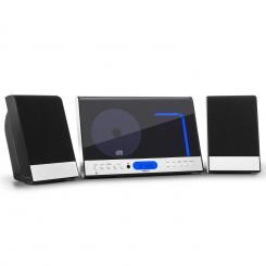 Vertical 90 Stereoanlage CD USB MP3 SD AUX schwarz Schwarz