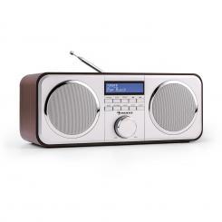 Georgia DAB-Radio DAB+ UKW Senderspeicher Wecker AUX dunkelbraun Braun