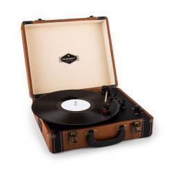 Jerry Lee Retro-Plattenspieler LP USB braun Braun
