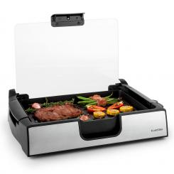 Showmaster Tisch-Grill 1500W bis 250°C Glasabdeckung