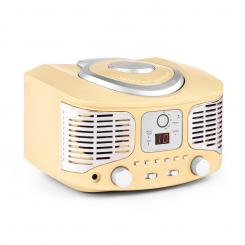 RCD320 Retro-CD-Player UKW AUX creme Creme