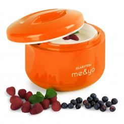 me & yo Joghurtbereiter Joghurtmaker 1 Liter BPA-frei orange