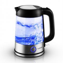 Tiefblau Wasserkocher 1,7 Liter 2200W blaue LED-Beleuchtung