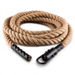 Power Rope Schwungtau mit Haken 12m Hanf Deckenbefestigung