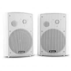 SKY-100 Wand-Lautsprecher 2-Wege-Lautsprecher Paar 120W max. Montagebügel weiß