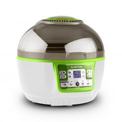 VitAir Turbo Heißluftfritteuse grün-weiß 1400W Grillen Backen 9l Grün