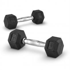 Hexbell Dumbbell Kurzhantel Paar 2x2,5kg 2x 2.5 kg