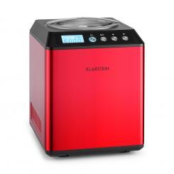 Vanilla Sky Eiscreme-Maschine Kompressor 2l 180W Edelstahl rot Rot