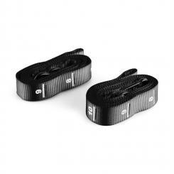 Addic Nylongurte 2 Stück Karabinerhaken Wettkampf-Standard Schwarz