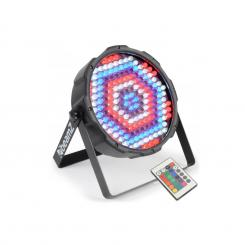 FlatPAR 186 x 10mm PAR-Strahler RGBW LED DMX IR inkl. Fernbedienung