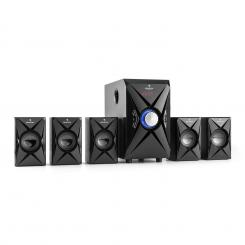 X-Plus 5.1-Kanal-Multimedia-Lautsprechersystem 70W RMS USB SD AUX UKWFB