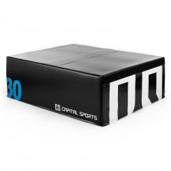 Rookso Soft Jump Box Plyo Box 90x30x75 cm schwarz