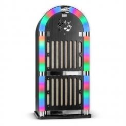 Memphis WD Jukebox Bluetooth UKW 2 x AUX LED-Lichteffekt Holz