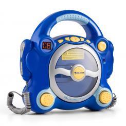 Pocket Rocker Karaoke-CD-Player Sing-A-Long 2 x Mikrofon Batteriebetrieb Blau