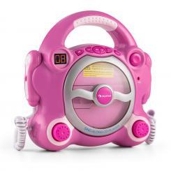 Pocket Rocker Karaoke-CD-Player Sing-A-Long 2 x Mikrofon Batteriebetrieb Pink