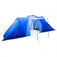 Ollico Tunnelzelt 6 Personen 560x200x230 cm Polyester 2000 mm blau Blau