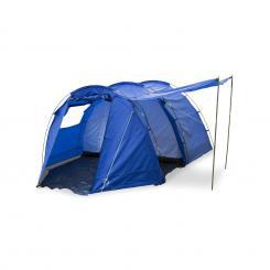 Jomida Tunnelzelt 4 Personen 260x150x410 cm Polyester 3000 mm blau Blau
